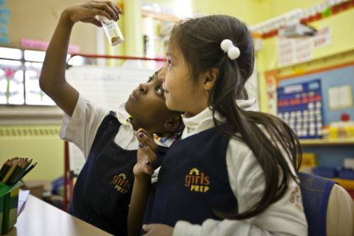 Public Prep Girls Charter School in NYC encouraging a love of science, technology, and math at early ages.