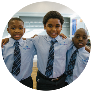 Photo of students from Public Prep's all boys charter schools in the Bronx