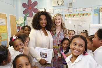Oprah Visits Public Prep New York Lower East Side Girls Charter School